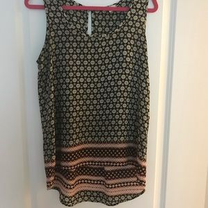 Patterned High Low Tank